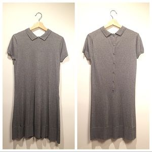 NWT Lacoste Knit Grey Polo Sweater Dress